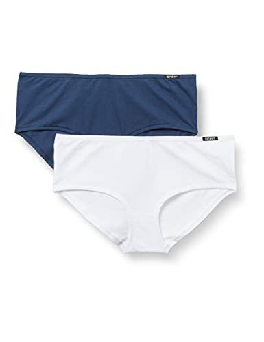 Skiny Damen Panty 2er Pack Hipster-Höschen, insigniablue Selection, 42