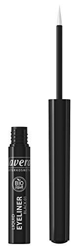 lavera Liquid Eyeliner -Black- Für einen ausdrucksstarken Blick ∙ Perfekter Lidstrich ∙ Vegan Naturkosmetik Natural Make-up Bio Pflanzenwirkstoffe 100% natürlich 3er Pack (3x 2.8 ml)