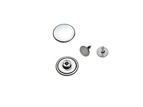 Ista Tools Jeansknöpfe, ohne Loch Rostfrei Metallknopf, 14mm, 17mm, 20mm, Metall Knöpfe (10, 17mm Silber Nickel-frei)