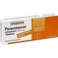 Paracetamol-ratiopharm® 500 mg Tabletten 20 Stück