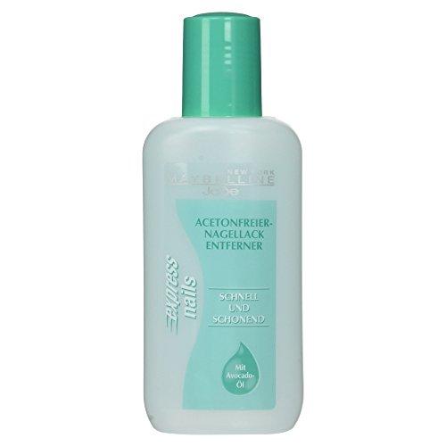 Maybelline Jade Nagellackentferner ohne Aceton, Pflegend, Express Nails, 125 ml