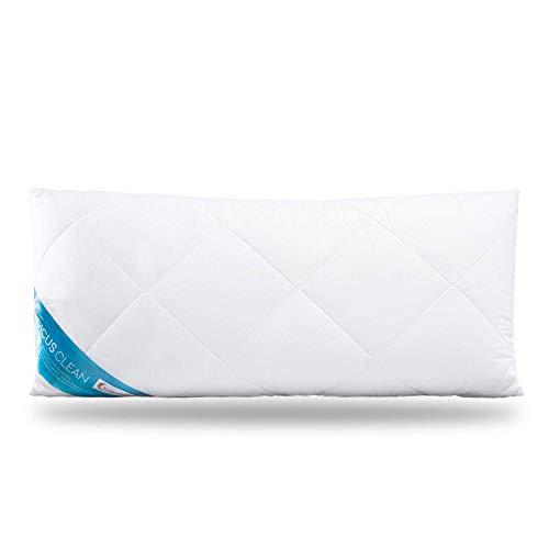 Schlafmond Medicus Clean Allergiker Kopfkissen 40 x 80 cm - Hoher Schlafkomfort, Anpassbare Kissenfüllung, Made in Germany - Weiches Baumwolle Kissen