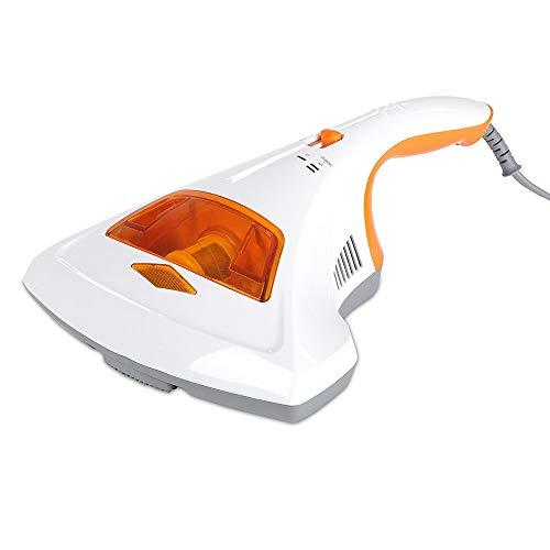 maxVitalis Milben-Handstaubsauger UV-C Licht, Sterilisation u. Reinigung, Matratzensauger, HEPA-Filtration vernichtet bis zu 99,9% Aller Milben, ohne Beutel, Starke Saugleistung, für Allergiker