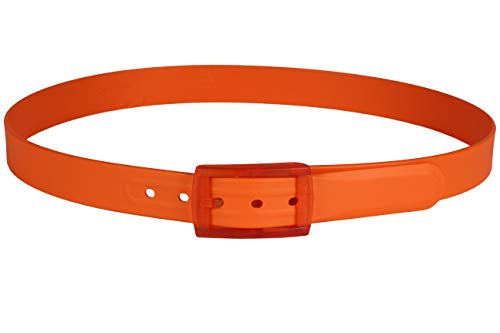 tie-ups® Gürtel aus Silikon - Elastischer Gürtel | Gürtel ohne Metall - Hypoallergenes | Nickelfreie Gürtel | Ideal zum Reisen Hergestellt ohne Metall Zusätze | Farbe Coolmandarin