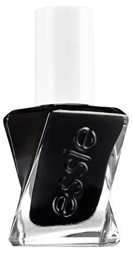 essie langanhaltender Nagellack mit glänzendem Finish, Maniküre ohne UV Licht, Gel Couture, Farbe: Nr. 514 like it loud, Schwarz, 1 x 13,5 ml