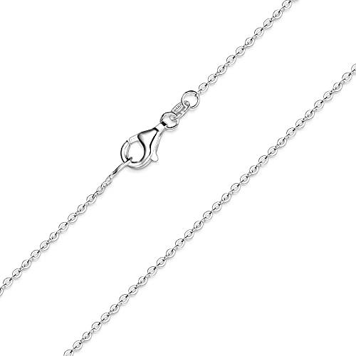 MATERIA feine Ankerkette 925 Sterling Silber - 1mm Halskette silber in 40 45 50 60 70 cm verfügbar #K30, Länge Halskette:40 cm