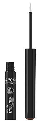 lavera Liquid Eyeliner -Brown- Für einen ausdrucksstarken Blick ∙ Perfekter Lidstrich ∙ Vegan Naturkosmetik Natural Make-up Bio Pflanzenwirkstoffe 100% natürlich 3er Pack (3x 2.8 ml)