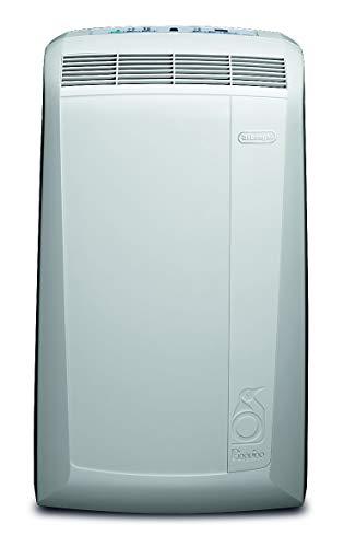 'De'Longhi Pinguino PAC N82 ECO Silent – mobiles Klimagerät mit Abluftschlauch, leise Klimaanlage für Räume bis 80 m³, Luftentfeuchter, Ventilationsfunktion, 12h-Timer, 2,4 kW, 75 x 45 x 39,5 cm, weiß