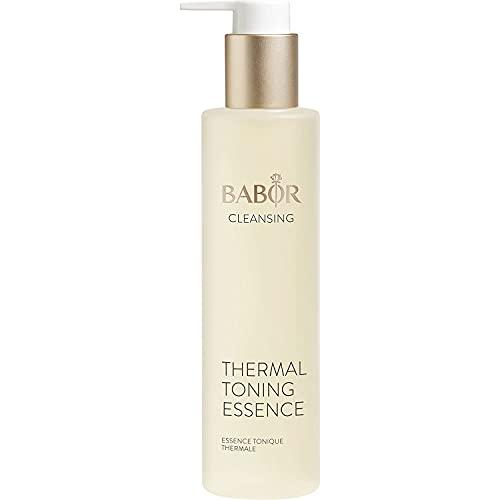 BABOR CLEANSING Thermal Toning Essence für empfindliche Haut, Gesichtswasser zur täglichen Gesichtsreinigung, Ohne Alkohol, Vegane Formel, 1 x 200 ml