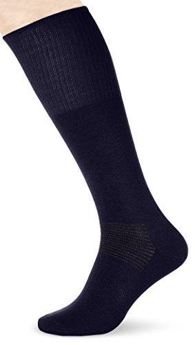 Relaxsan Herren Diabetikersocke Knielang mit antibakteriellen Silberfasern Stützstrümpfe, Blau (Marine 301), 37/38 (Herstellergröße: 2)