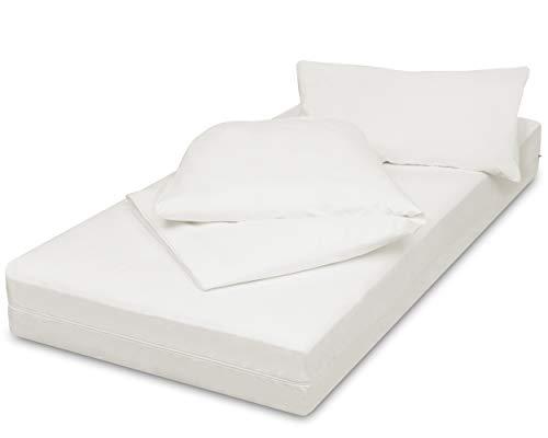 allsana Encasing Set: 90x200x20/135x200/80x80cm,Allergiker Bettwäsche Kissenbezug+Deckenbezug+Matratzenbezug