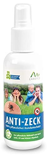 Gardigo Zeckenspray für Menschen, 130 ml I Antizeckenmittel schützt gegen Zecken und Mücken, Zeckenschutz, Mückenschutz, Insektenschutz, deutscher Hersteller