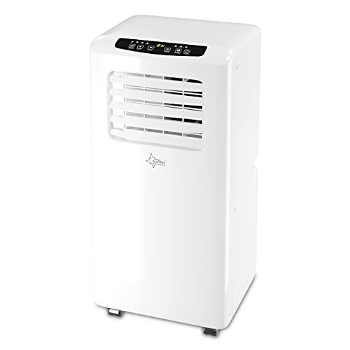 SUNTEC Mobiles Klimagerät Impuls 2.0 Eco R290 – Klimaanlage mobil und leise mit Abluftschlauch – Kühler & Entfeuchter für Räume bis 25 qm – Mobile Kühlung für Wohnung & Büro – 7.000 BTU – 2050 Watt