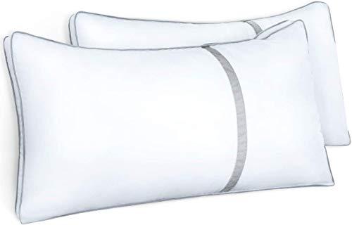 BedStory Kopfkissen 40x80cm, 2er Set Kissen je 900g, Hochwertig Kissen mit gefülltem Mikrofaser, Schlafkisse geeignet für Allergiker, Atmungsaktiv Seitenschläferkissen Weich & Stützend, Hotel Qualität