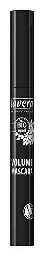 lavera Volume Mascara Wimperntusche ∙ Farbe black schwarz ∙ Volumen, Schwung & Definition ∙ Natural & innovative Make up ✔ vegan ✔ Bio Pflanzenwirkstoffe ✔ Naturkosmetik ✔ Augen Kosmetik 1er Pack (1 x 9 ml)