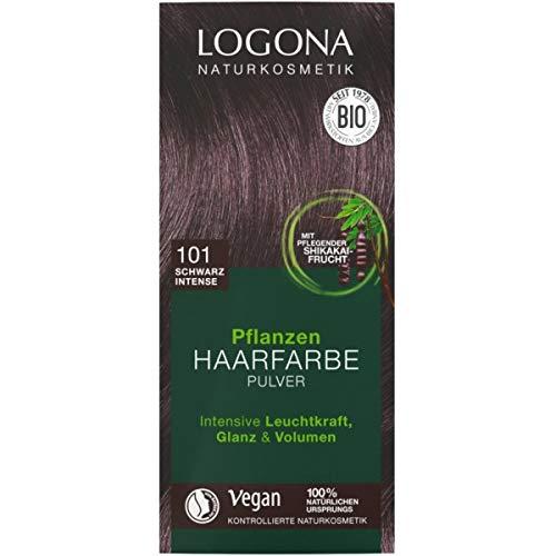 Logona Pflanzen-Haarfarbe-Pulver schwarz 'intense' (100 g)