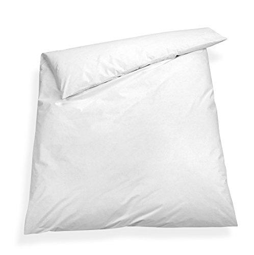 sleepling Komfort 100 Evolon Encasing Bettbezug Bezug Bettdecke, Allergie und Anti Milben Schutz für Hausstauballergiker, Kochfest 95 Grad, 135 x 200 cm weiß