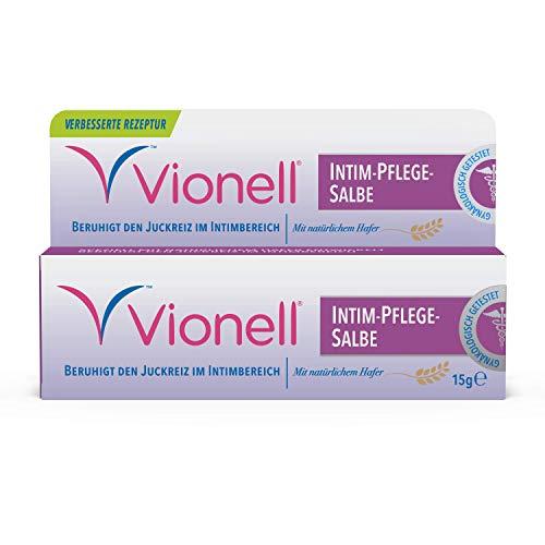 Vionell Medicated Crème, schnelle Linderung von Juckreiz, Brennen und Reizungen im Intimbereich, 15 g