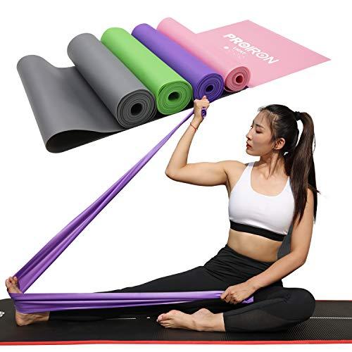 PROIRON Fitnessbänder Theraband Fitness Latexfrei Lang Übungsband 1.5M 2M Gymnastikband Krafttraining für Pilates Therapien Trainieren Zuhause