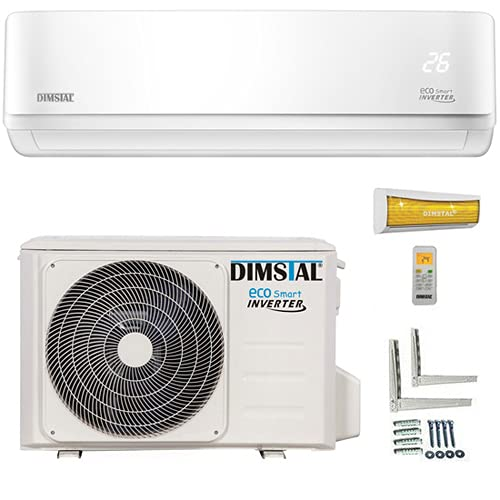ECO Smart INVERTER WiFi/WLAN-Ready 9000 BTU Split Klimaanlage mit Wärmepumpe Klimagerät mit Heizfunktion (2,6 kW)