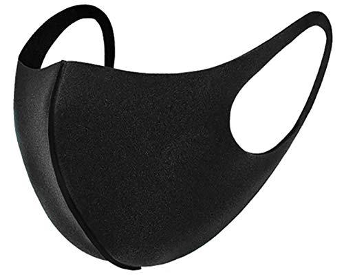 10 x Mundmasken für Freizeit Sport Training Mundschutz Staub Pollen Gesichtsmaske Fashion Maske Gesichtsschutz Face Masks Sportmaske waschbar Q schwarz