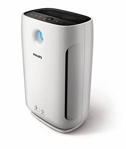 Philips Luftreiniger 2000 series (Raumgröße bis zu 79 qm, Luftqualitätsanzeige), 1 Stück, weiß-schwarz, AC2887/10