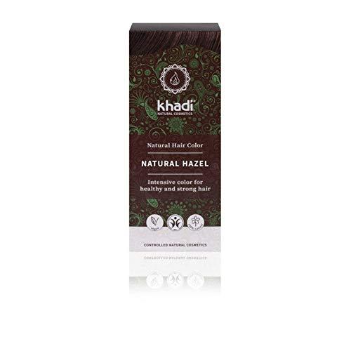 khadi Pflanzenhaarfarbe Nussbraun I Haarfarbe Braun mit Henna und Amla I Naturhaarfarbe 100% natürlich & vegan I Zertifizierte Naturkosmetik I 100g