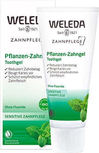 WELEDA Pflanzen Zahngel, vegane Naturkosmetik Zahncreme zur gründlichen Reinigung der Zähne, natürlicher Schutz bei empfindlichem Zahnfleisch ohne den Zahnschmelz anzugreifen (1 x 75 ml)