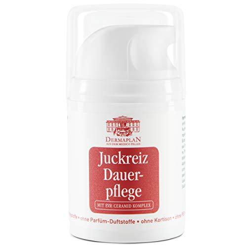 DERMAPLAN - Juckreiz Dauerpflege Salbe 50 ml- Creme gegen trockene Haut & Juckreiz bei z.B. Neurodermitis, Schuppenflechte oder Allergie - Made in Germany - 100% vegan - Intensiv Hautpflege