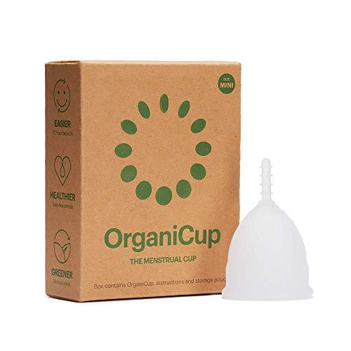 OrganiCup Menstruationstasse - Größe Mini - Gewinner des AllergyAwards 2019 - FDA-zugelassen - Weiches, flexibles, wiederverwendbares medizinisches Silikon…