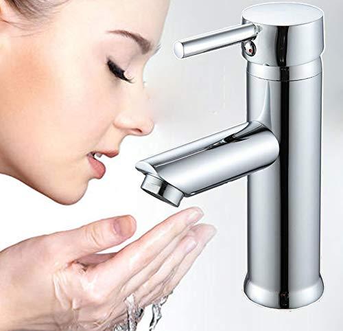 Chrom Wasserhahn Pop-up Bad Waschtischarmatur Badarmatur Einhebelmischer Waschbecken Mischbatterie Waschtisch Armatur für Badezimmer Heißes Wasser Vorhanden