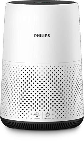 Philips AC0820/10 Luftreiniger entfernt bis zu 99,9% der Pollen, Staub, Viren und Aerosole* aus der Luft, für Allergiker, bis zu 49qm, CADR 190m³/h, weiß