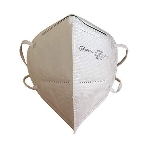 Mundschutz Maske FFP2 perfekt für Mund- und Nasenschutz Schutzmaske Atemschutzmaske Atemmaske Einwegmaske 4-lagig CE Zertifiziert (20)