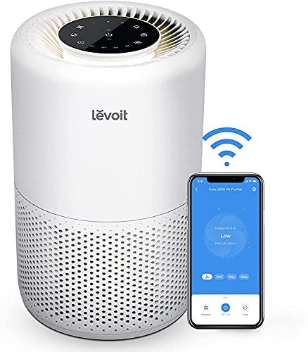 Levoit Luftreiniger Air Purifier mit App Steuerung, H13 HEPA Luftfilter CADR 170m³/h, bis zu 35m², Luftreiniger für Allergiker Raucher, Alexa-kompatibel, 24dB leiser Schlafmodus und Timer, Core 200S