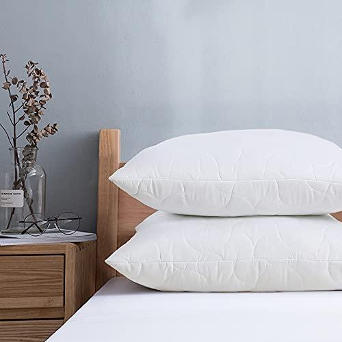 Viewstar Kopfkissen 80x80 2er Set, Mikrofaser Füllung Kissen Pillow mit Reißverschluss, Weiche & Angenehme Schlafkissen Polster 80 x 80, Bett Kissen für Allergiker Atmungsaktiv Komfort