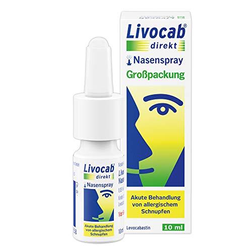 Livocab® direkt Nasenspray (10 ml)   Akuthilfe bei Allergie   Schnelle Hilfe bei allergischem Schnupfen   Wirkungsvoll ab der 1. Anwendung