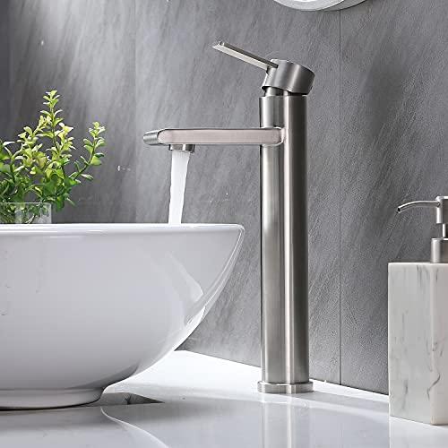 Delicaho Badarmatur, Waschbecken Badarmatur, Bad Einhand-Wasserhahn, 100% bleifrei und nickelfrei bathroom faucet