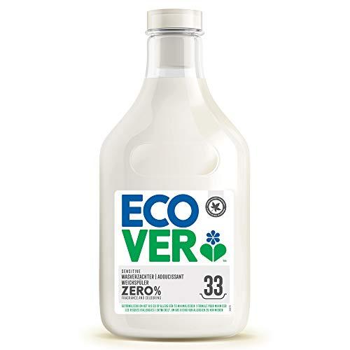 Ecover Zero Sensitive Weichspüler (1 L/33 Waschladungen), Weichspüler ohne Duft mit pflanzenbasierten Inhaltsstoffen, Ecover Weichspüler für weiche Wäsche und leichtes Bügeln