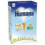 Humana HA 1, Hypoallergene Anfangsnahrung für Babys mit erhöhtem Allergie-Risiko, Milchpulver als Babynahrung, von Geburt an, 500 g