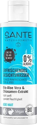 SANTE Naturkosmetik Erfrischendes Gesichtswasser, Ohne Alkohol, Bio-Aloe, Jede Haut, Spendet Feuchtigkeit, Vegan, 1x125ml