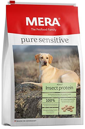 MERA Pure Sensitive Hundefutter, mit Insekten-Protein, Trockenfutter für Sensible Hunde, hypoallergen & umweltfreundlich – Single Protein Futter, 4 kg