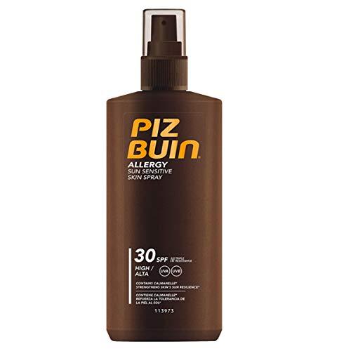 Piz Buin Allergy Sonnenspray mit LSF 30, Sonnenschutz für empfindliche Haut, schnell einziehend, 200ml