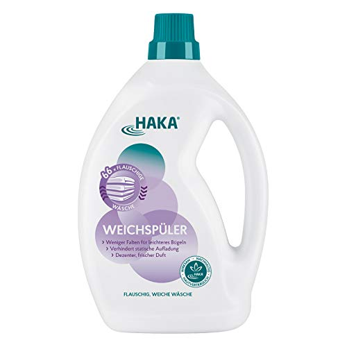 HAKA Weichspüler I 2 Liter I Umweltfreundlicher Weichspüler als Ultra Konzentrat I Mit frischem Duft I Ohne Farbstoffe I Sehr Gut Hautverträglich