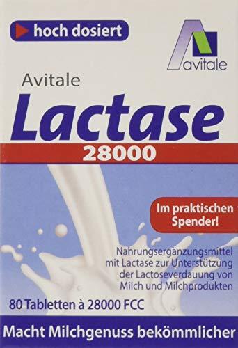 Avitale Lactase 28.000 FCC, 80 Tabletten im Spender