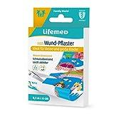 Lifemed - 5 Wund-Pflaster insgesamt 0,5 m x 6 cm zum selber schneiden, mit Kids-Like Märchen Motiven - im preisgünstigen und praktischen 4er Pack