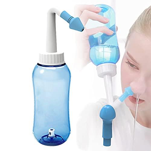 XXGJK Neti Pot Sinus Spülung Nasenspülung Nasendusche Set Nasensauger Nasenspülmittel Reinigungsflasche für Erwachsene Kinder Allergische Nasenspülung 500ml