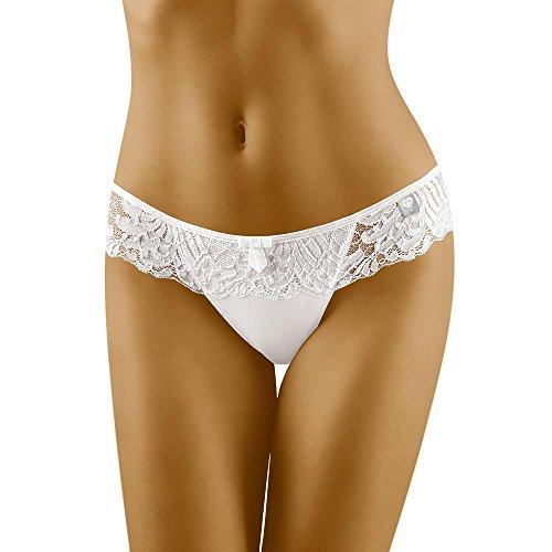 Wolbar Damen Slip 3503 Limited Edition Diamant, weiß,Small