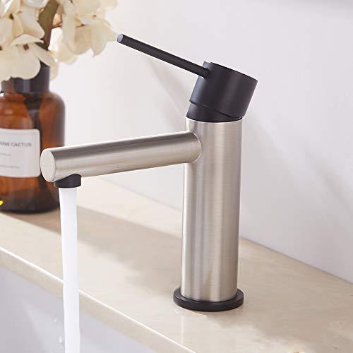 Delicaho Wasserhahn Bad Mischbatterie bad armatur Waschtisch Waschbecken Badarmaturen einhebel Waschtischarmatur für badezimmer, 100% Blei- und Nickelfrei