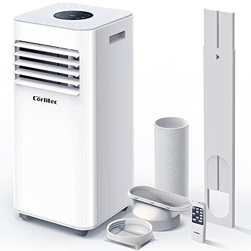 Corlitec Mobile Klimaanlage,9000 BTU 3-in-1-Tragbare Klimagerät, Luftentfeuchter,Kühlgebläse,mit Digitalanzeige&Fernbedienung,für Räume bis zu ca 20m²