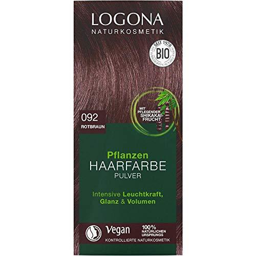 Logona Pflanzen-Haarfarbe-Pulver rotbraun (100 g)